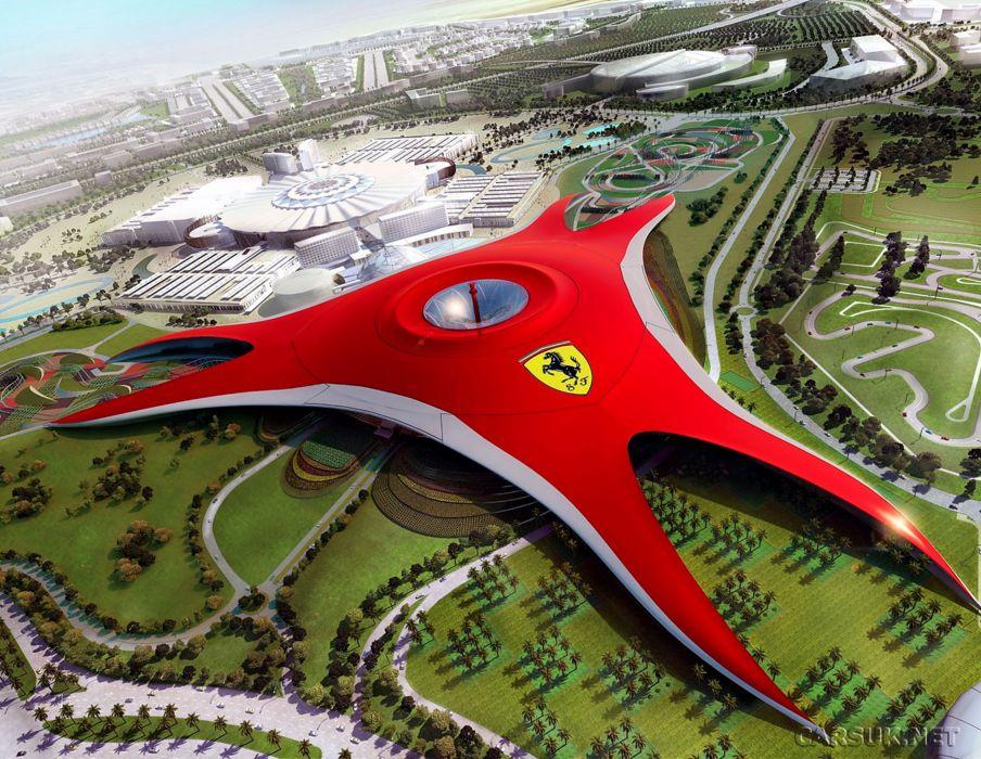 Ferrari World Abu Dhabi Red Horse Wallpaper