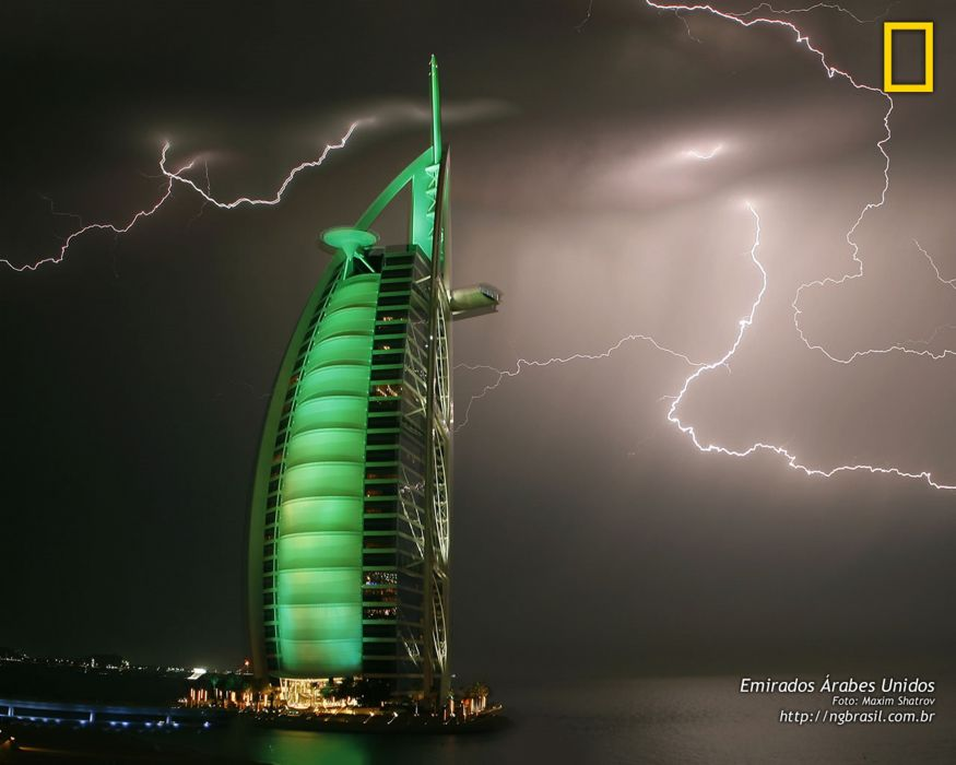 national geographic abu-dabhi lightning burj wallpaper