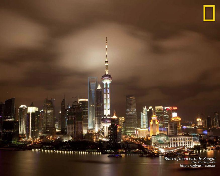 national geographic shangai city asia night wallpaper
