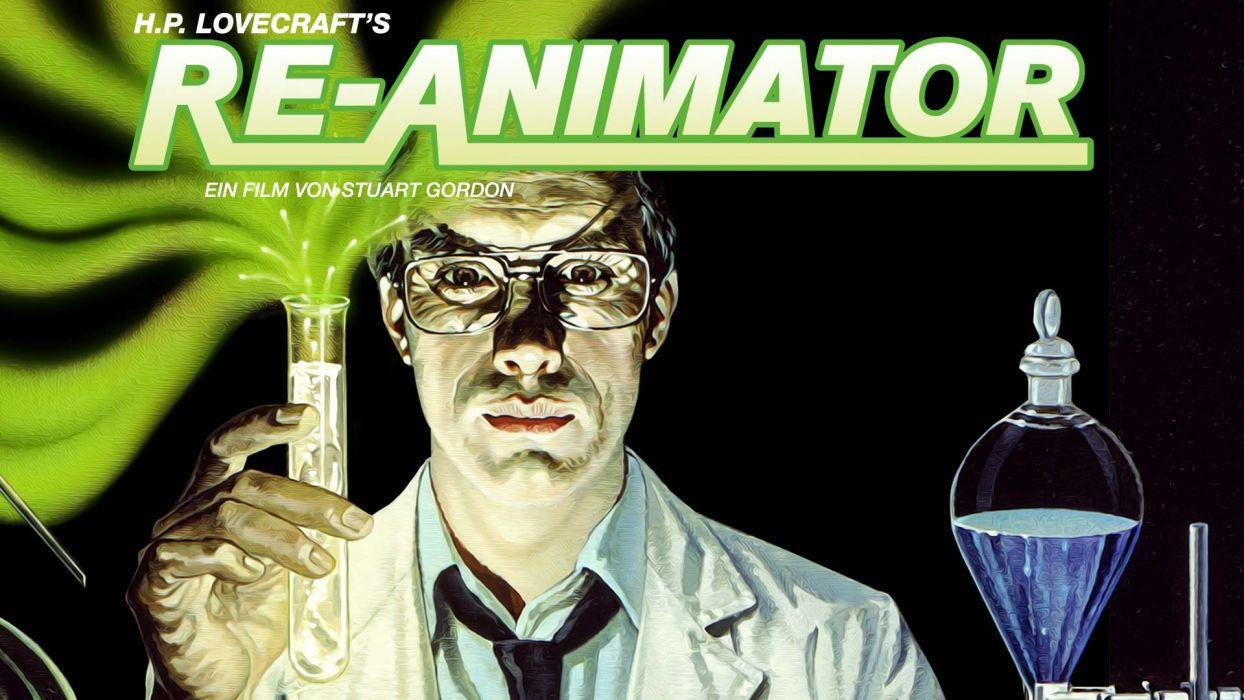 RE-ANIMATOR horror sci-fi dark movie film gore animator beyond (38) wallpaper