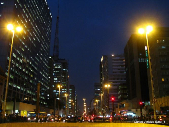 traffic night building SA wallpaper