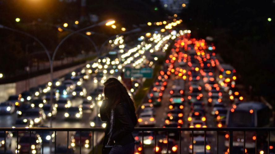 bridge traffic night SA wallpaper