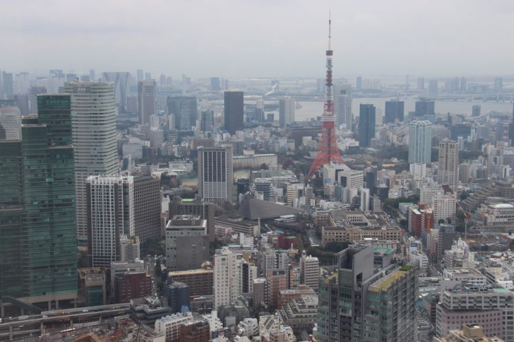 city Tokio Japan asia building aerial_view wallpaper
