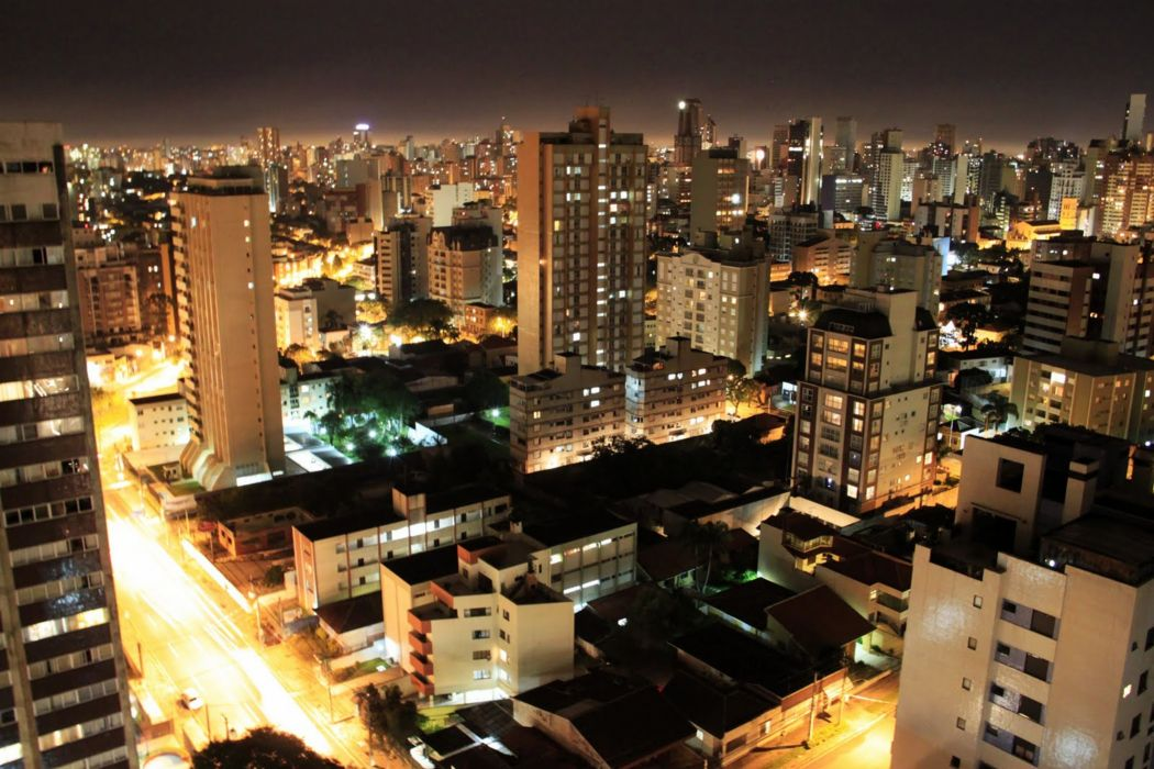 Curitiba city brazil night 4000x2668 wallpaper
