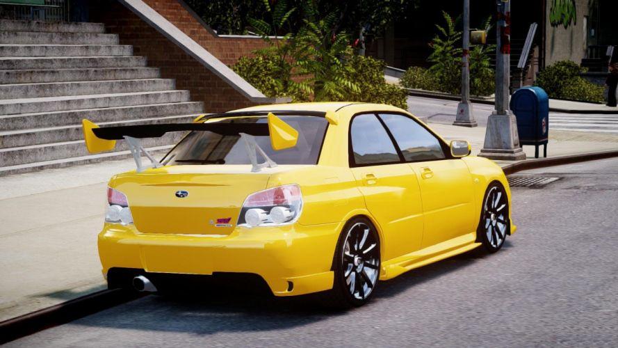 video games cars Subaru Impreza Grand Theft Auto IV yellow cars wallpaper