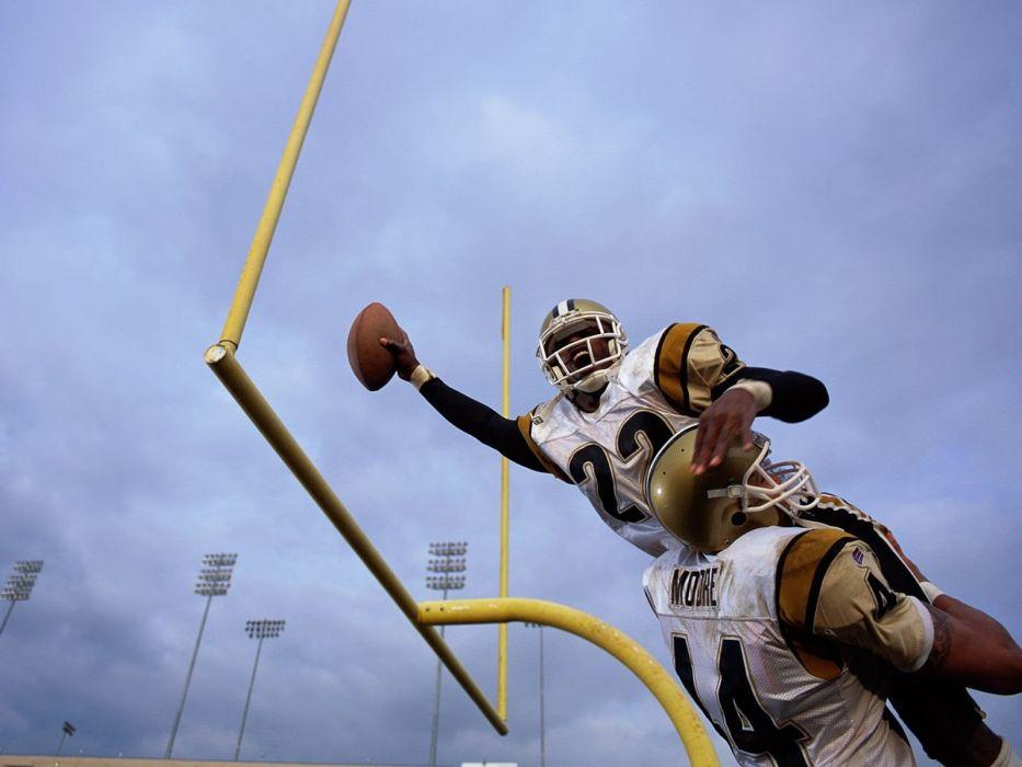 American Football goalpost mid air wallpaper