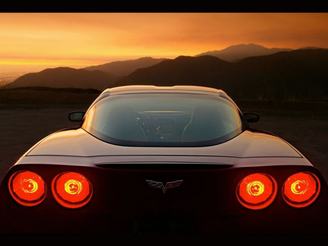 cars vehicles Chevrolet Corvette backlights wallpaper