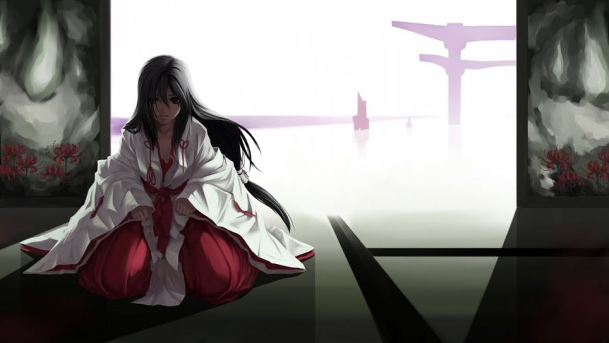 Miko Japanese clothes wallpaper