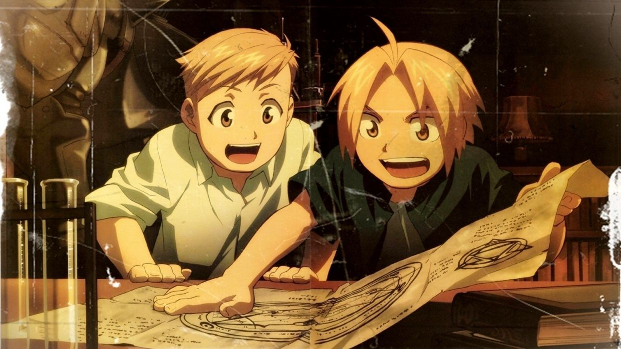 Fullmetal Alchemist brotherhood Elric Alphonse Elric Edward anime Full Metal Alchemist wallpaper