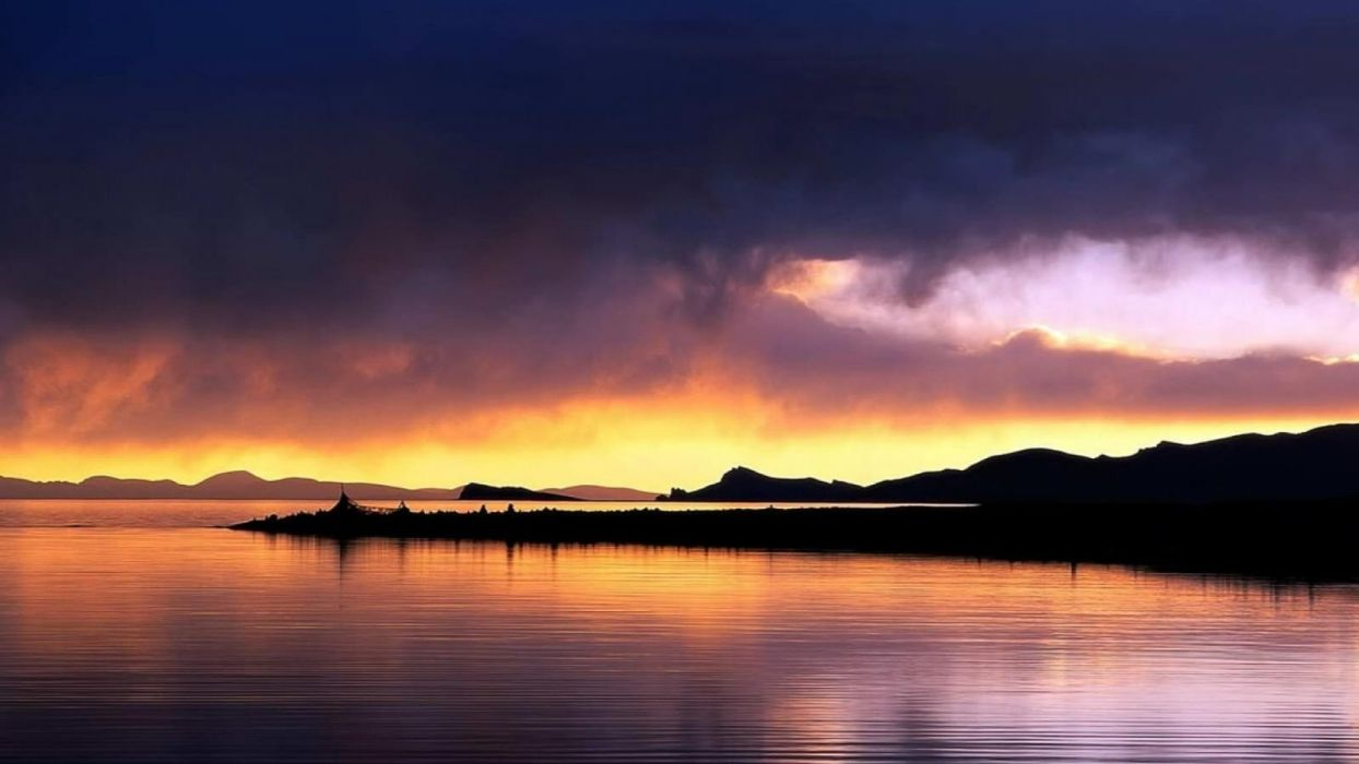 sunset Facebook timeline cover purple sky wallpaper