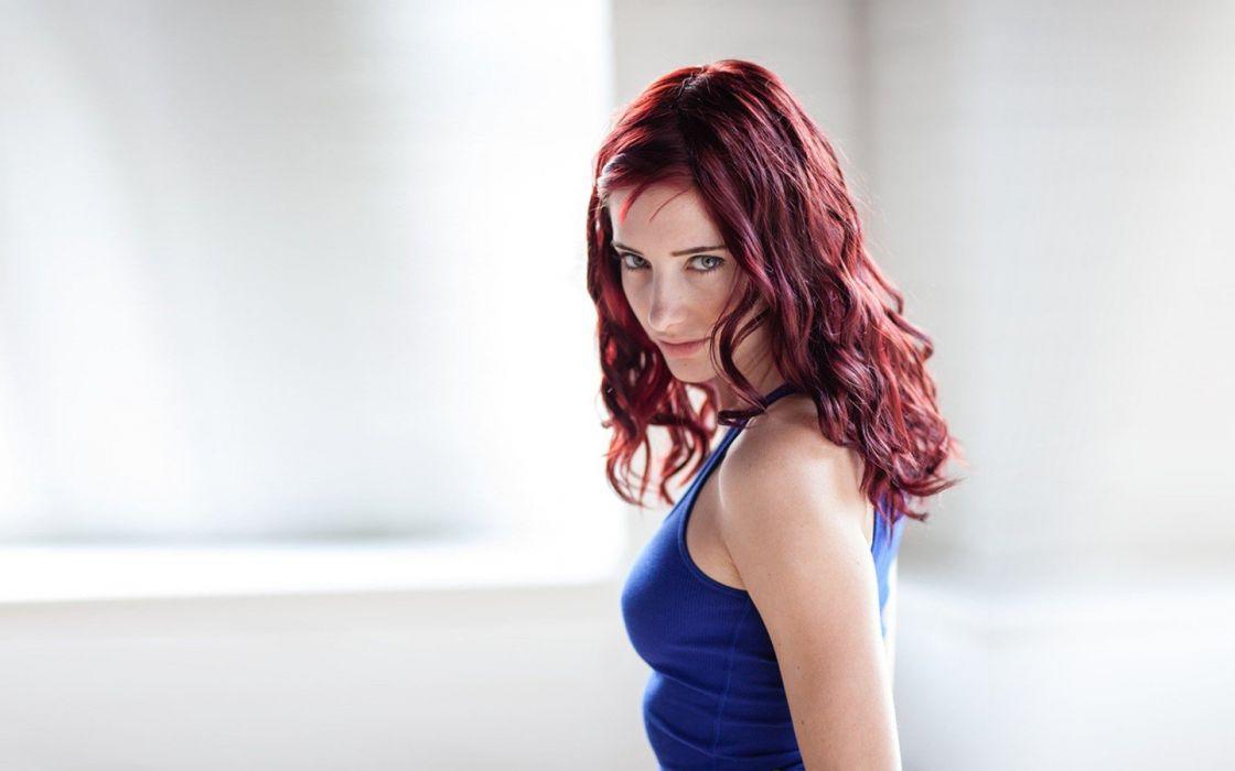 women Susan Coffey redheads models wallpaper