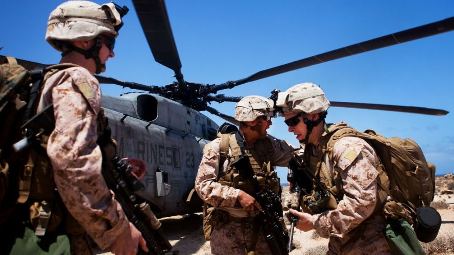 soldiers war guns helicopters Afghanistan US Marines Corps soldat MH-53 Pave Low wallpaper