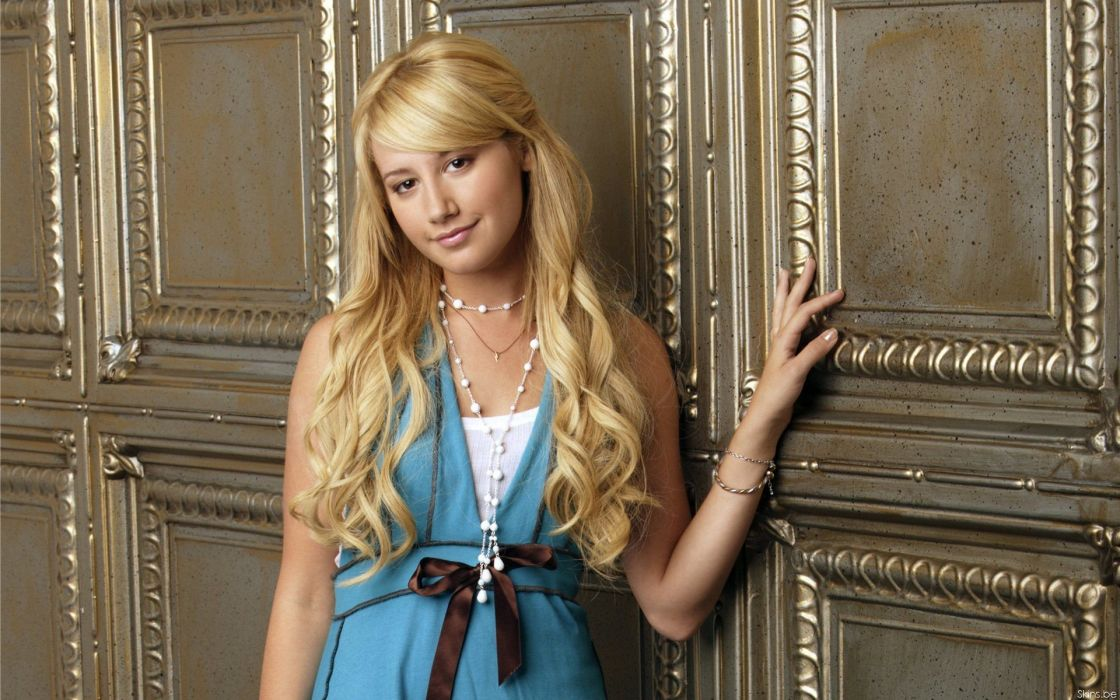 blondes women long hair celebrity Ashley Tisdale wallpaper