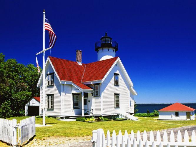 coast USA lighthouses wallpaper