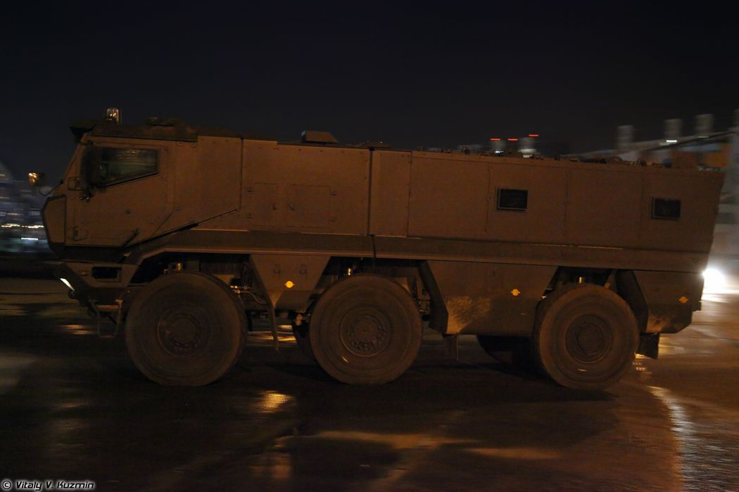 Parade vehicles march from Alabino to Moscow night Russia russian military army truck KAMAZ-63968 Typhoon-K MRAP vehicle 4000x2667 wallpaper