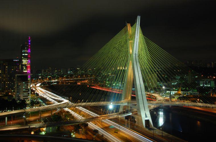 Ponte estaiada Octavio Frias - Sao Paulo wallpaper