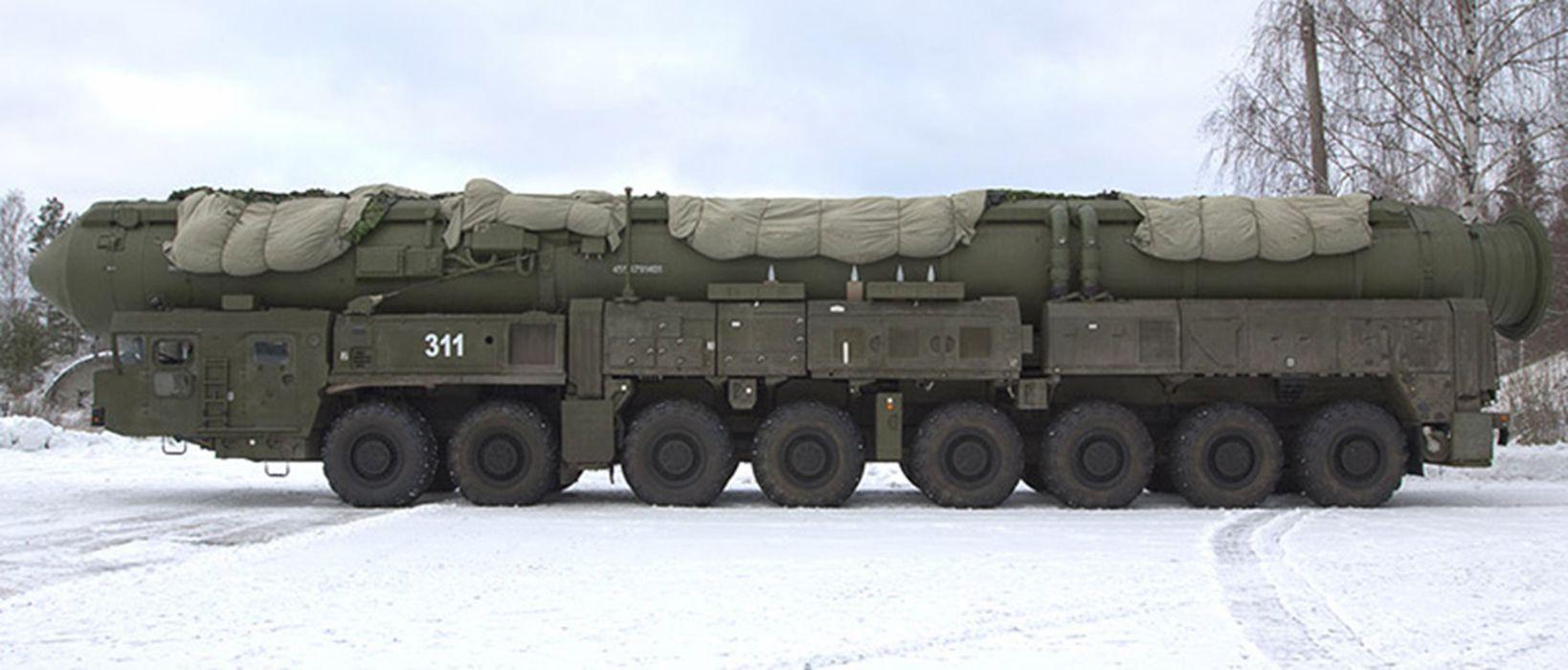 topol Russia missile russian soviet truck system mlitary IWN99 4000x1710 wallpaper