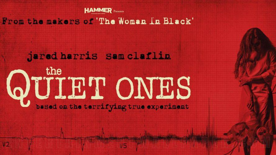 THE QUIET ONES horror dark movie film (1) wallpaper
