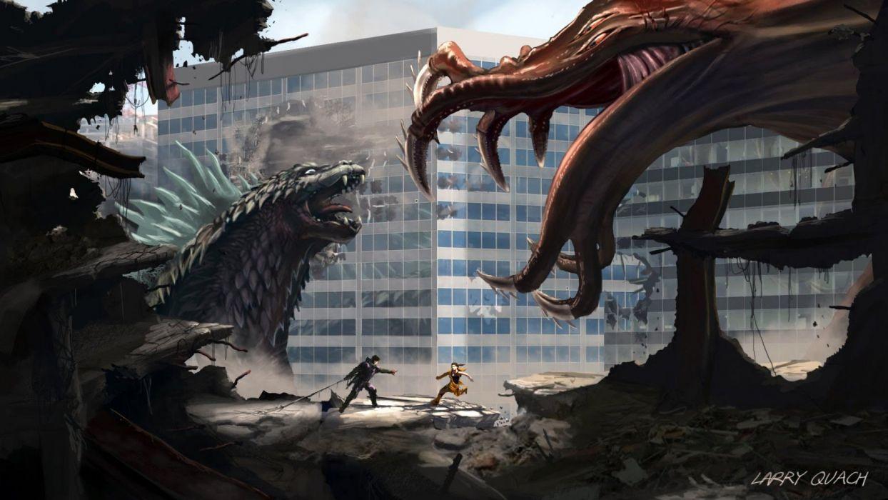 GODZILLA action adventure sci-fi fantasy monster dinosaur horror (5) wallpaper