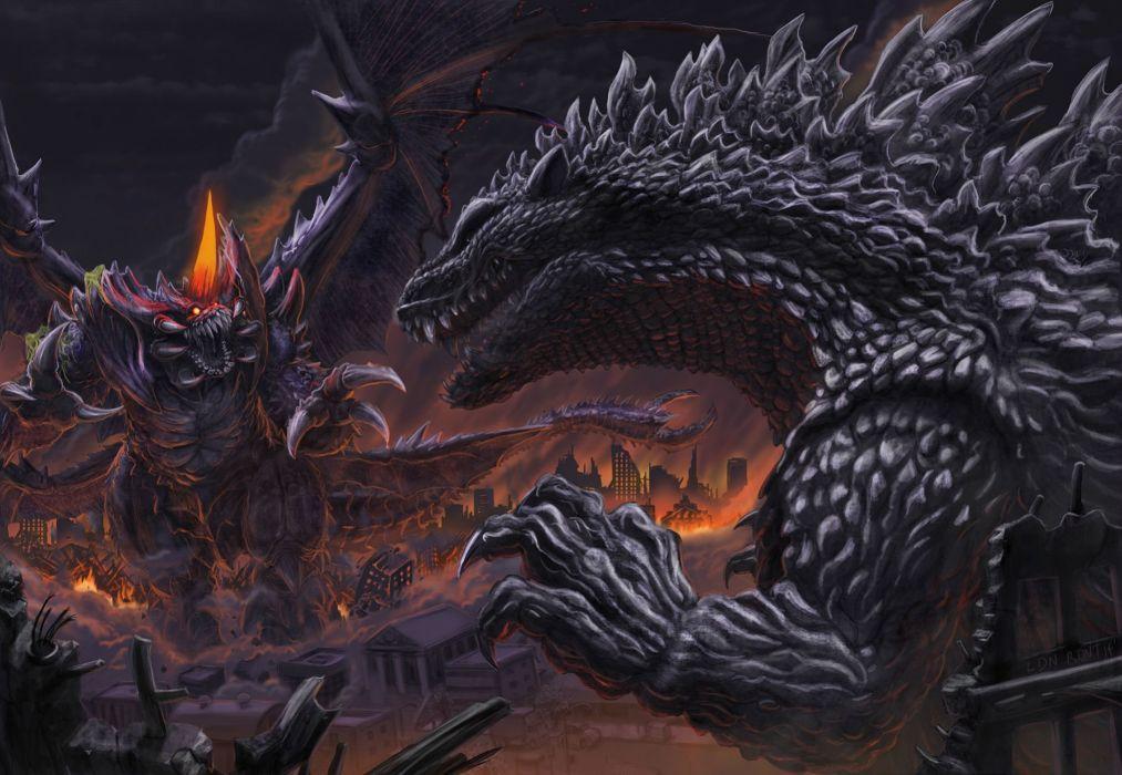 GODZILLA action adventure sci-fi fantasy monster dinosaur horror (29) wallpaper