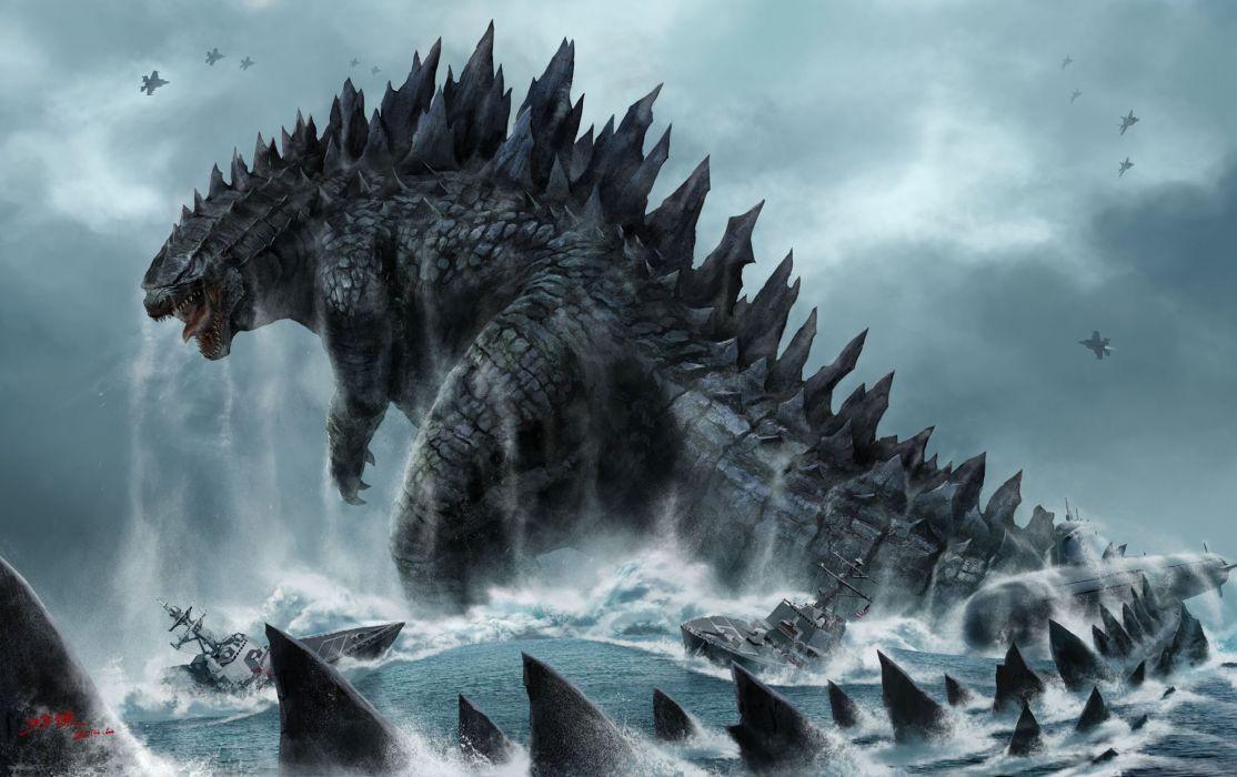 GODZILLA action adventure sci-fi fantasy monster dinosaur horror (32) wallpaper