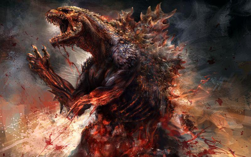 GODZILLA action adventure sci-fi fantasy monster dinosaur horror (35) wallpaper