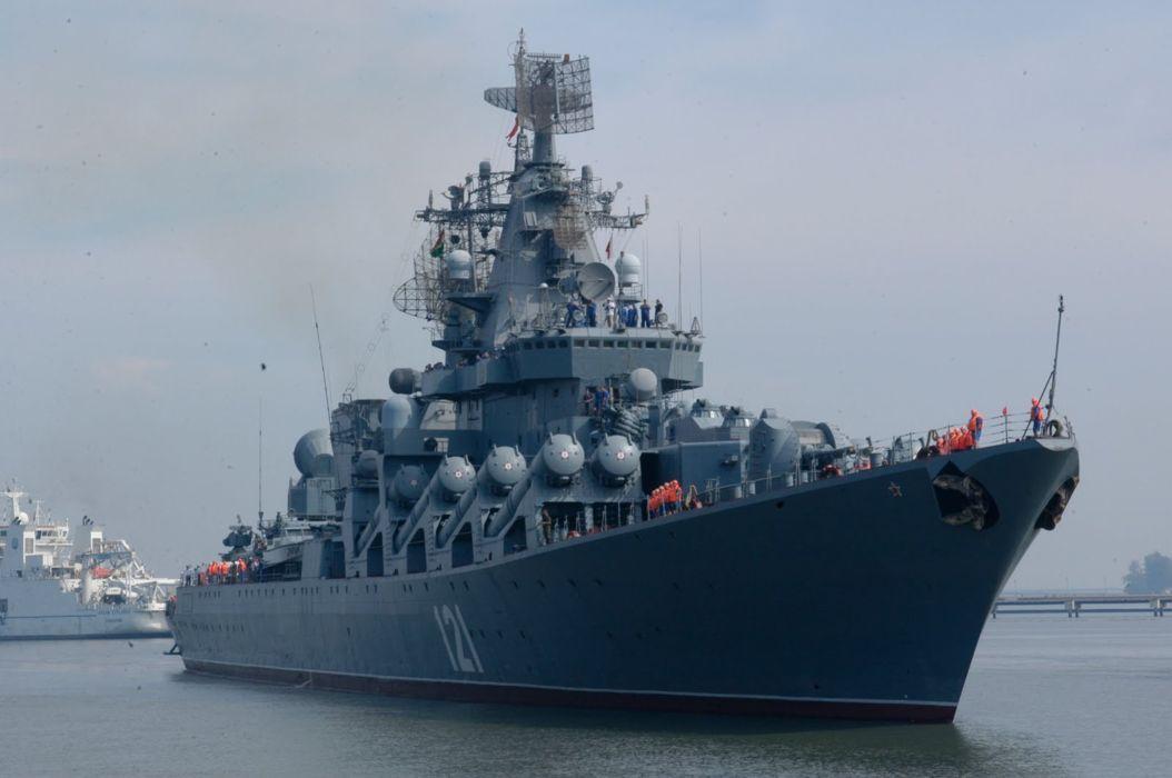 Russia navy russian warship ship war red star moskva 4000x2658 wallpaper
