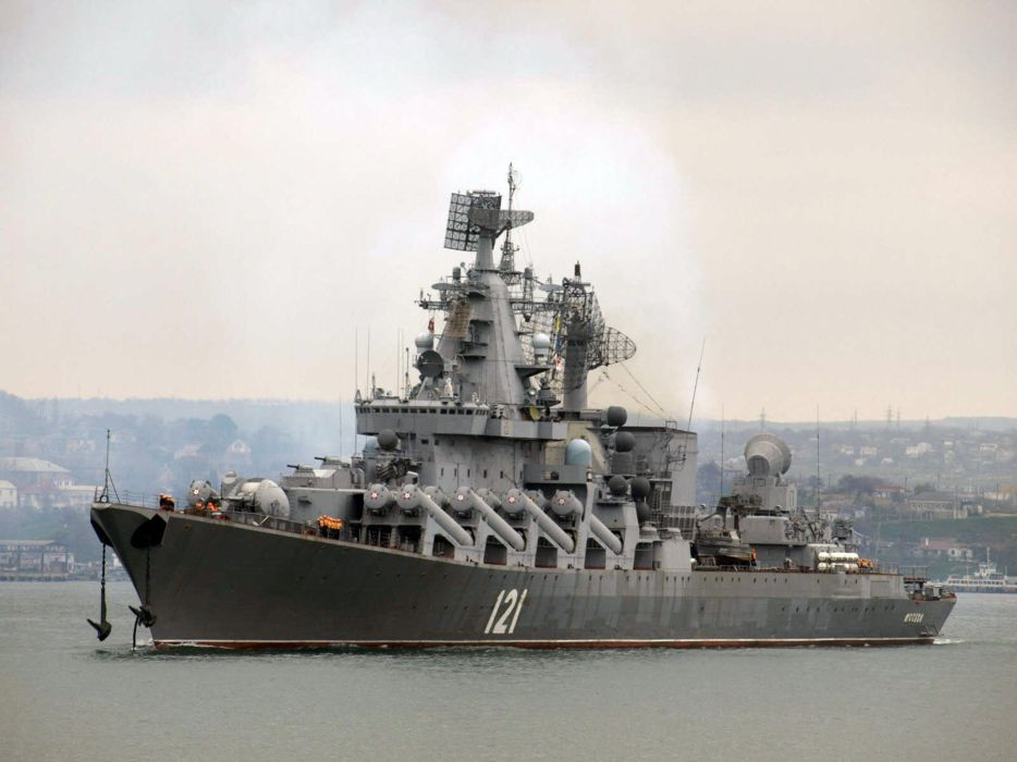 Russia navy russian warship ship war red star project-1164 moskva 4000x3000 wallpaper