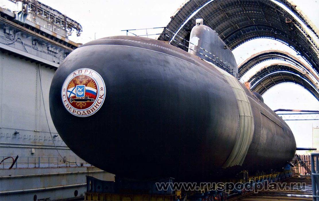 Russia navy russian submarine war red star K-329 Severodvinsk 4000x2520 wallpaper