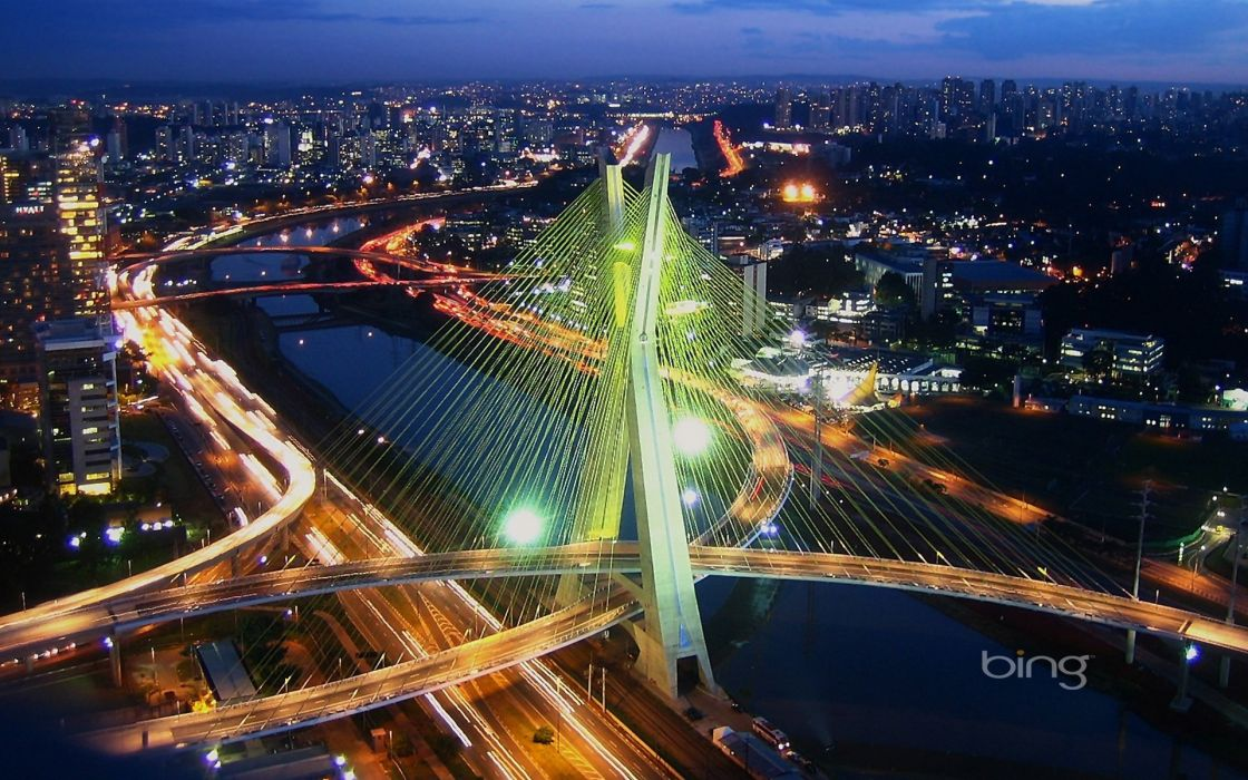 cable-stayed-bridge architecture building SA wallpaper