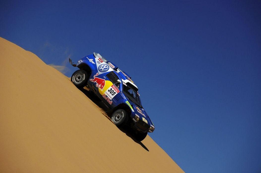 Volkswagen Race Touareg Dakar Rally racing car sand desert 4000x2660 wallpaper