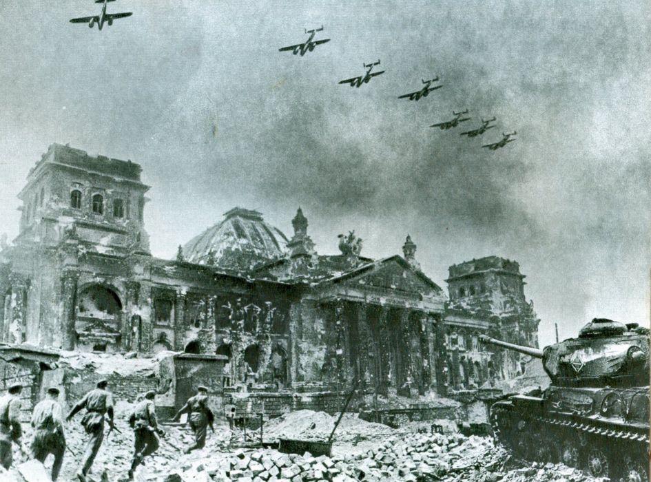 wwII warr russian Berlin tank red army soviet 4000x2965 wallpaper