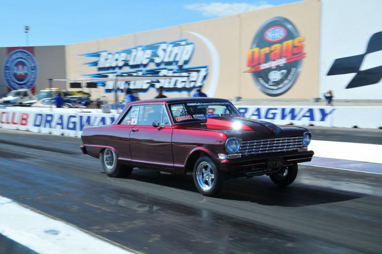 DRAG RACING hot rod rods race chevrolet nova d wallpaper