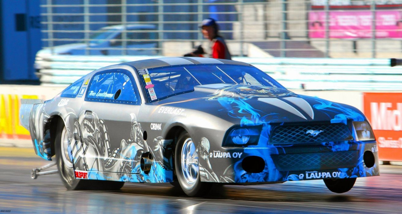 DRAG RACING hot rod rods race ford mustang  h wallpaper