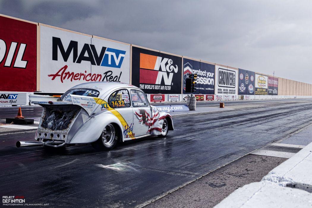 DRAG RACING hot rod rods race volkswagon beetle bug     f wallpaper
