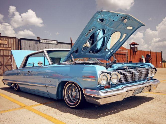 lowrider custom chevrolet impala d wallpaper