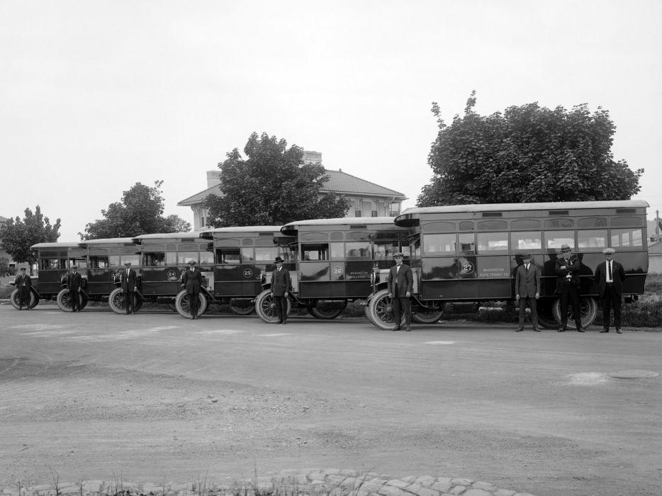 1923 Duplex Bus transport semi tractor retro    f wallpaper