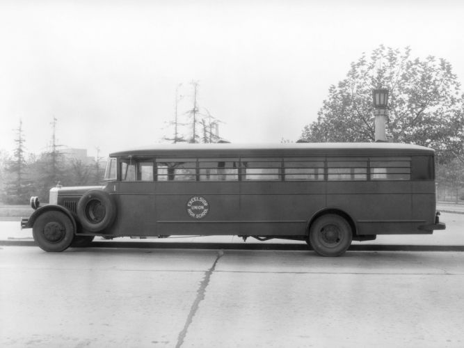 1932 ACF School Bus Crown Motor Carriage transport semi tractor retro r wallpaper