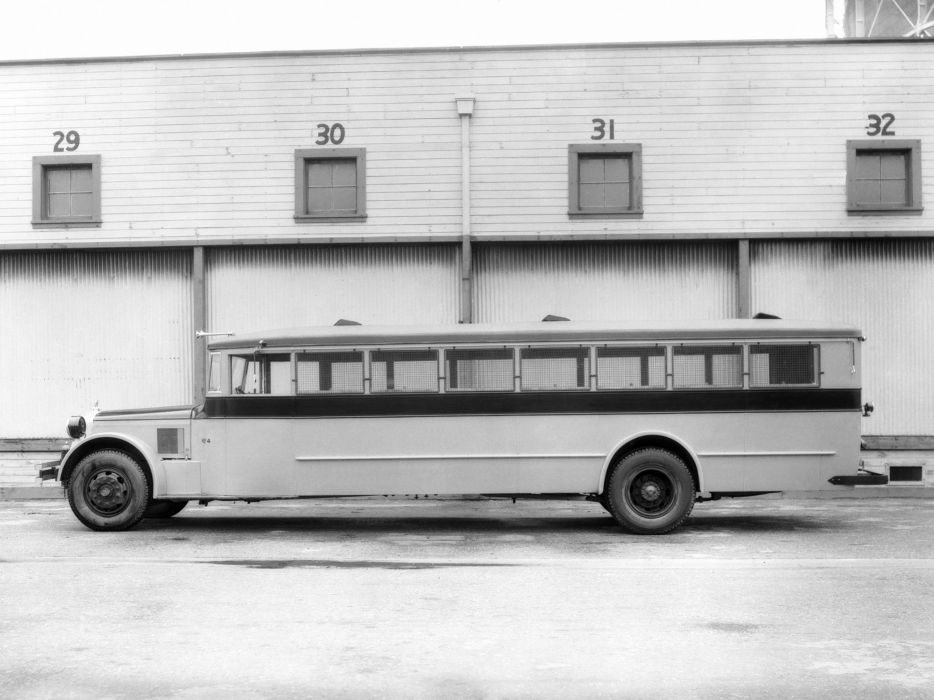 1932 ACF School Bus Crown Motor Carriage transport semi tractor retro    h wallpaper