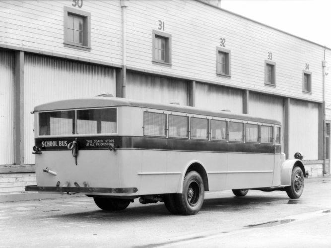 1932 ACF School Bus Crown Motor Carriage transport semi tractor retro g wallpaper