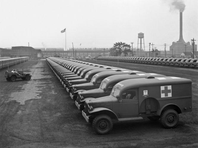 1942 Dodge WC-54 Ambulance (T214) military 4x4 retro emergency g wallpaper