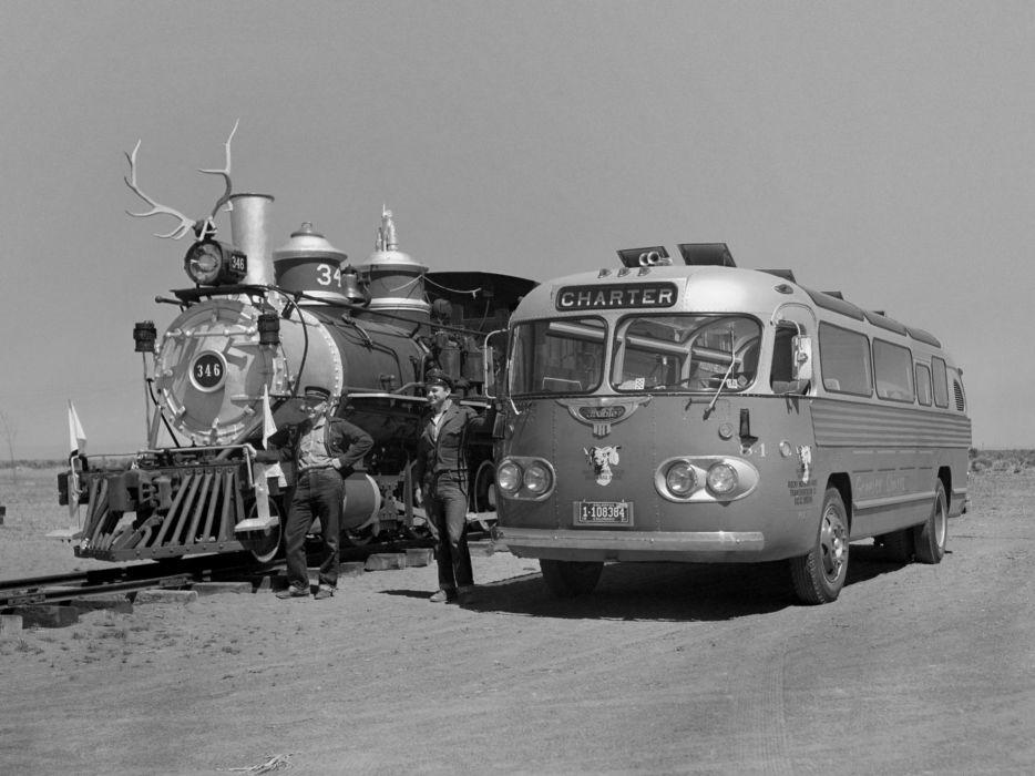 1944 Flxible Clipper transport bus retro semi tractor locomotive railroad engine   h wallpaper