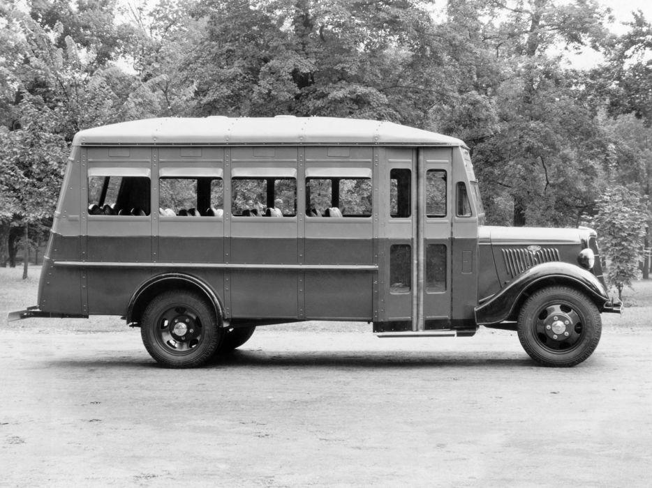 1935 Ford V8 Model-51 Bus Wayne (5332) transport retro semi tractor     f wallpaper