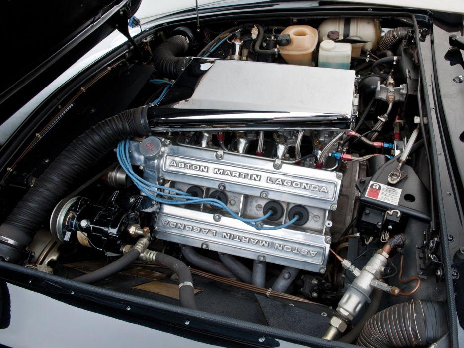 1986-89 Aston Martin V-8 Vantage Volante US-speNE engine      h wallpaper
