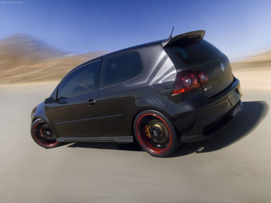 Volkswagen GTI R Concept 2006 Golf Car Tunning Black Carbon Wallpaper 4000x3000