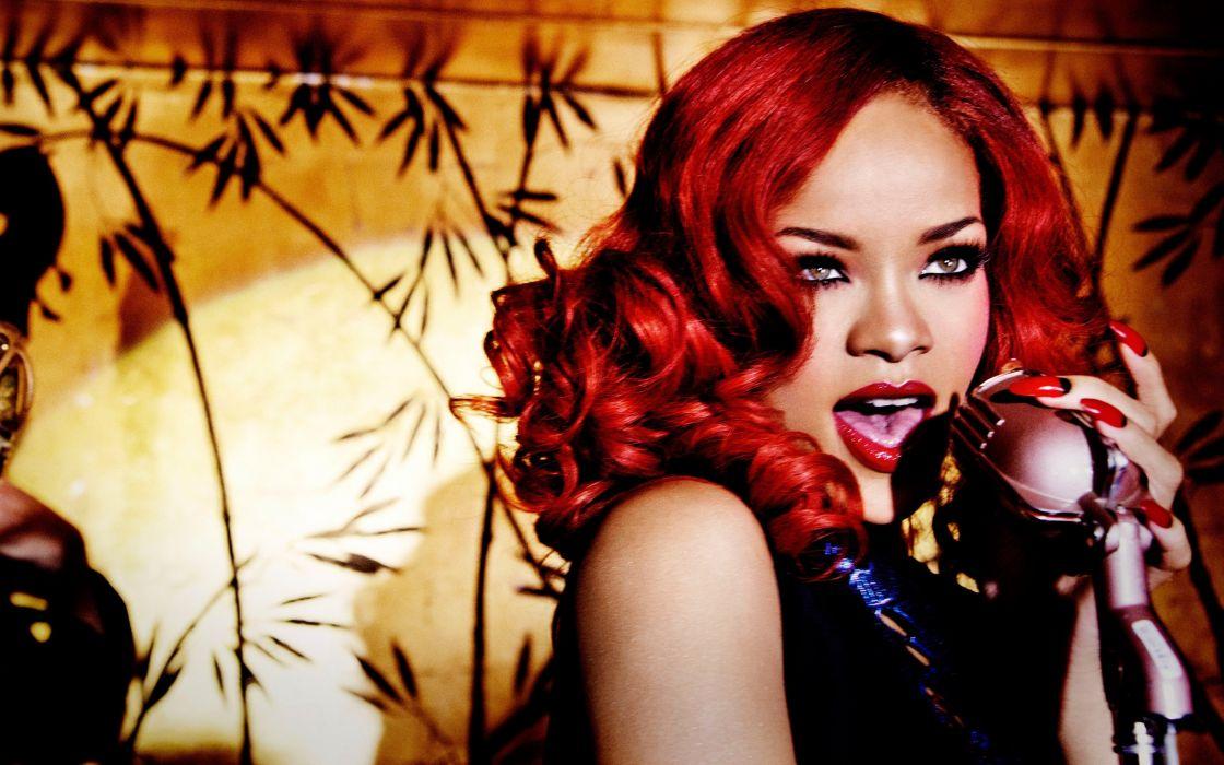 rihanna redhead singer celebrity 4000x2500 wallpaper