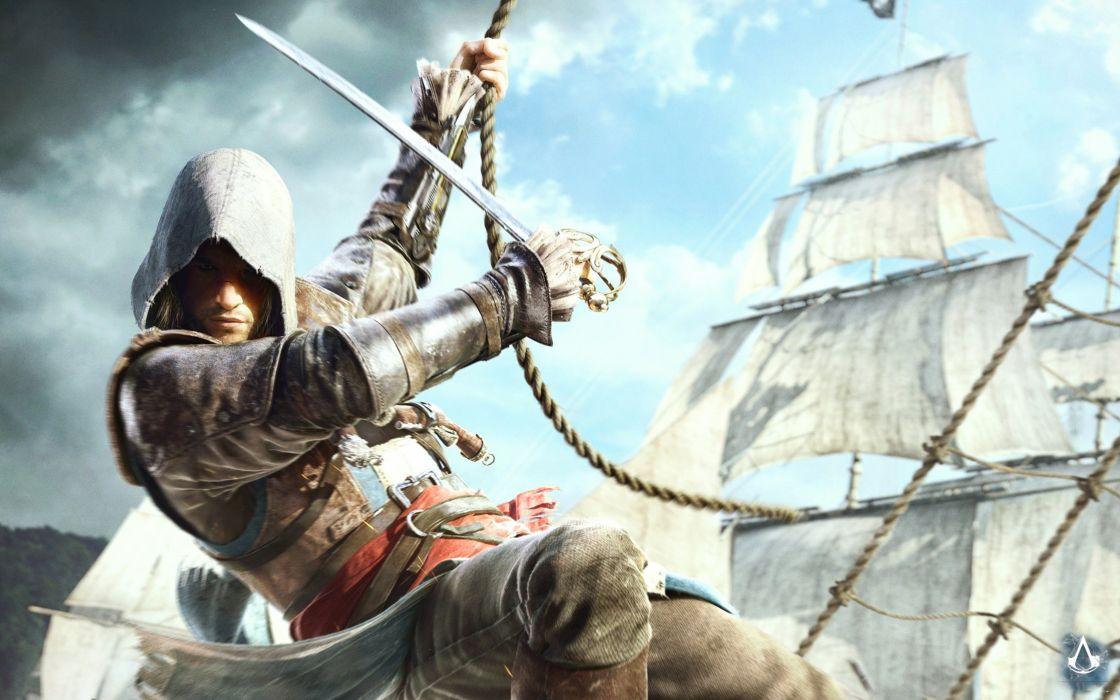 assassins-creed-4 game pirate 4000x2500 wallpaper