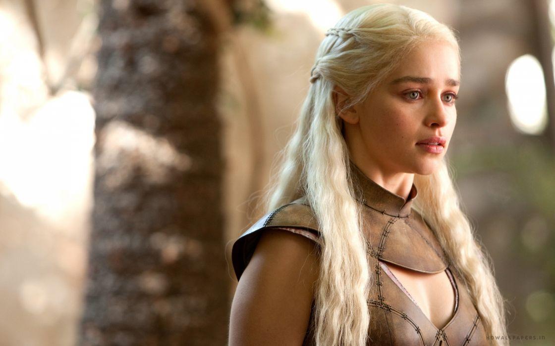 emilia clarke game-of-thrones actress blonde 4000x2500 2 wallpaper