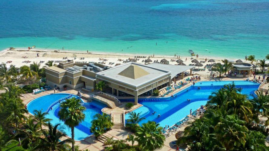 Caribbean beach sea resort 4000x2250 wallpaper