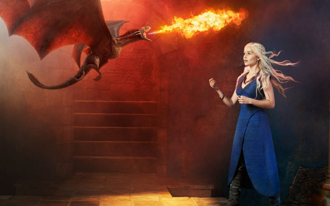 game-of-thrones emilia clarke actrees blonde dragon 4000x2500 wallpaper